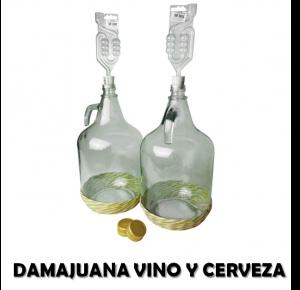 comprar dama juana precio vino de cristal barata